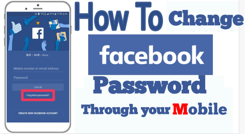 change facebook password from mobile