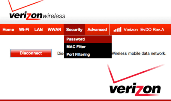 Details of Changing the Passwords in Verizon Wireless Network