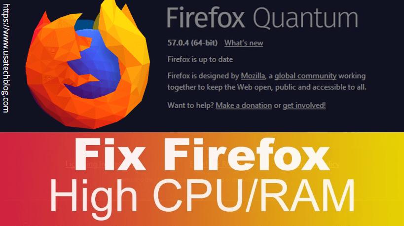 fix-firefox-high-RAM Reasons & Remedies of Mozilla Firefox Not Responding Issue