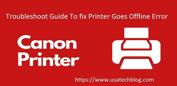 Why does Canon printer Go offline?