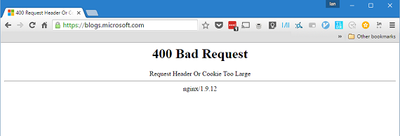 Browser error caused by Cache and Cookies