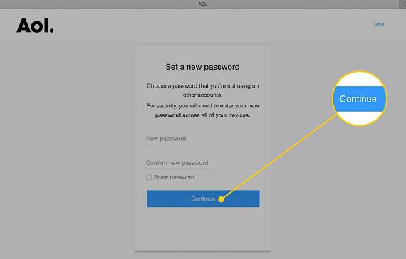 Change AOL Password