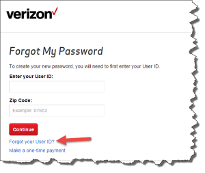 Change forgotten verizon email password