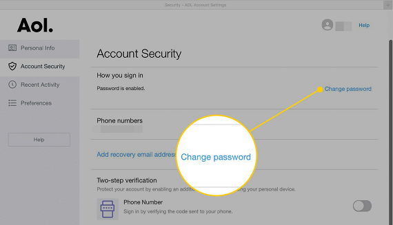 How to Change AOL Password on MAC