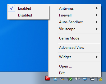 Temporary disable antivirus program