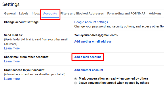 add on mail account