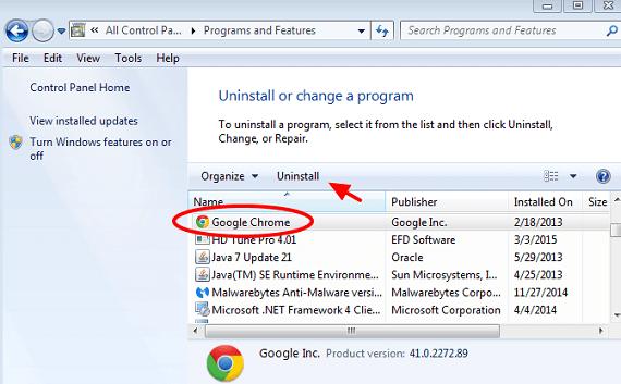 reinstall browser
