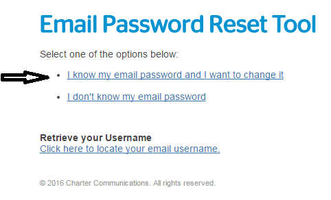 I know my email password and I want to change it in roadrunner email