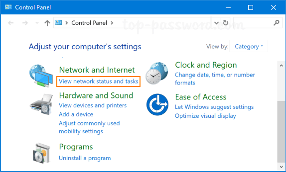 Open Control Panel and click on Network Settings