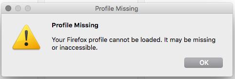 corrupt Firefox profile