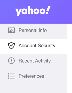 go to the Account security option in yahoo