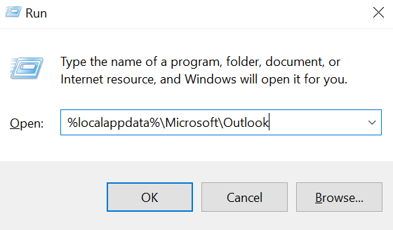 open-outlook-cache-folder