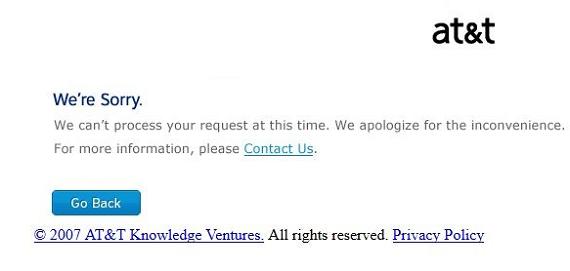 att email login failed