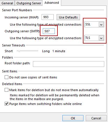 IMAP Incoming Mail Server