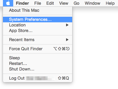 open apple menu system and preferences